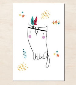 Green And Paper affiche chat indien green and paper #deco #enfants etsyhttp://www
