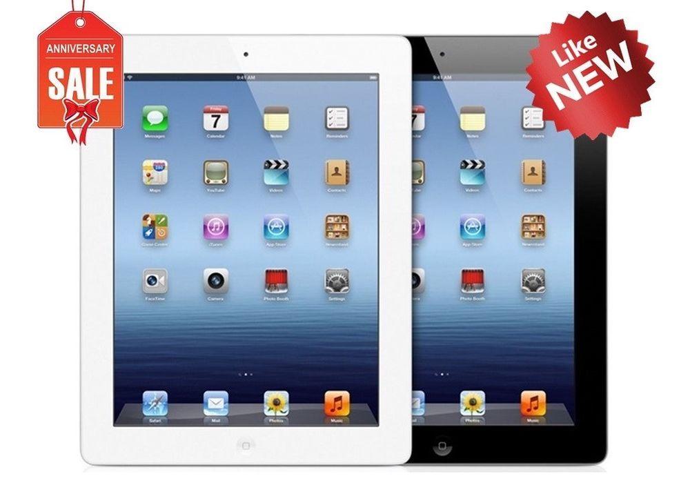 Details About Apple Ipad 3 Wifi Gsm Unlocked Black Or White 16gb 32gb 64gb I Great New Apple Ipad Apple Ipad Tablet