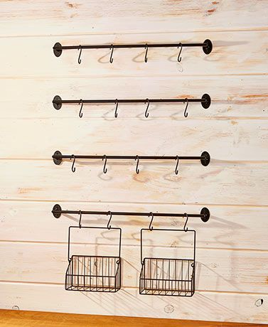 6 Pc Wall Mounted Coffee Mug Rack Kitchen Coffee Mug