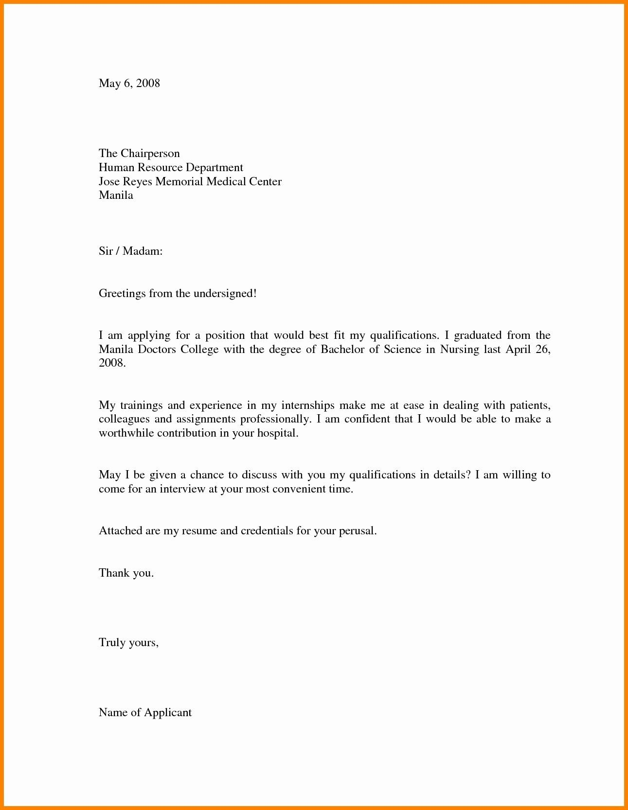 Cover Letter Sample For Job Application Doc Letter Template Word