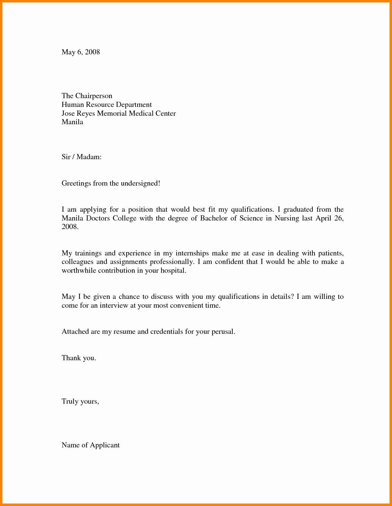 Cover Letter Sample For Job Application Doc Refrence