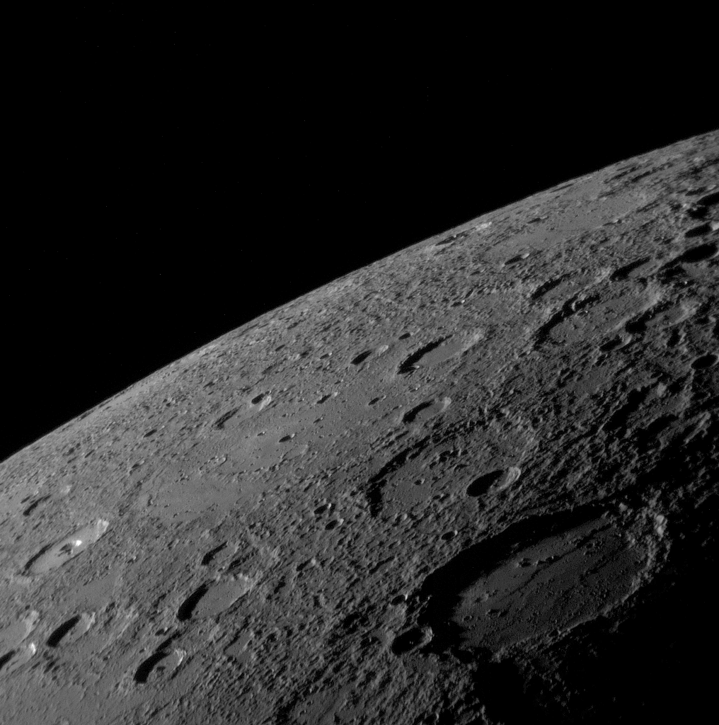 Visible On The Hot And Barren Planet Mercury Are Many Craters Many