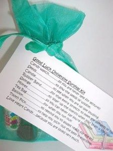 Good Luck University Student Survival Kit Gift Card Survival