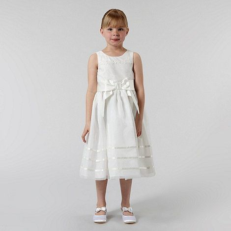 a68b9f575a0 Pearce II Fionda Girl s ivory appliqued flower dress- at Debenhams ...