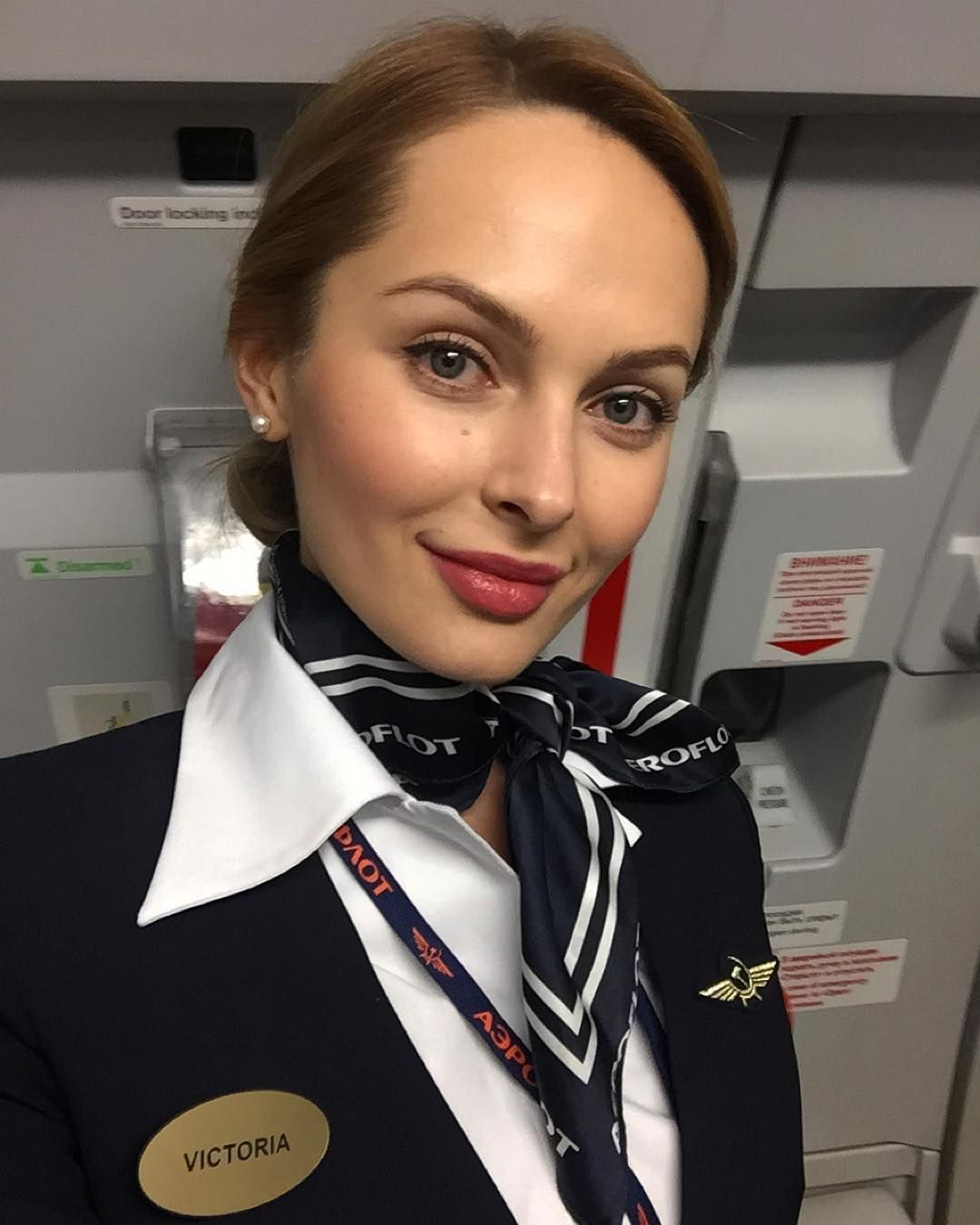 Aeroflot Flight Attendant Stewardess - Neck Scarf Air Hostess