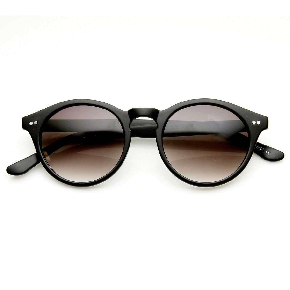 63eaec2b366f0 Vintage Inspired Small Round Circle Key Hole Retro P3 Sunglasses with Rivets