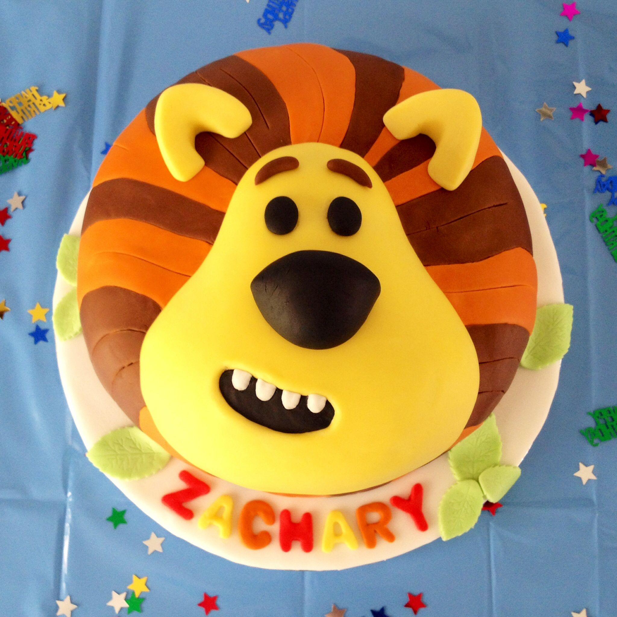 Zachs 1st Birthday Cake Raa Raa The Noisy Lion From Cbeebies