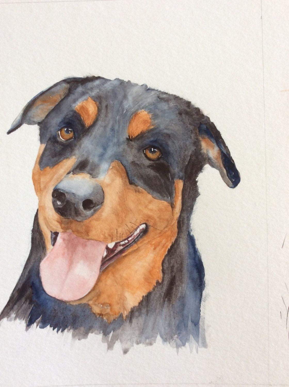 Custom pet portrait by WatercoloursGalore on Etsy (With