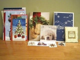 re-purposing Christmas cards into gift tags
