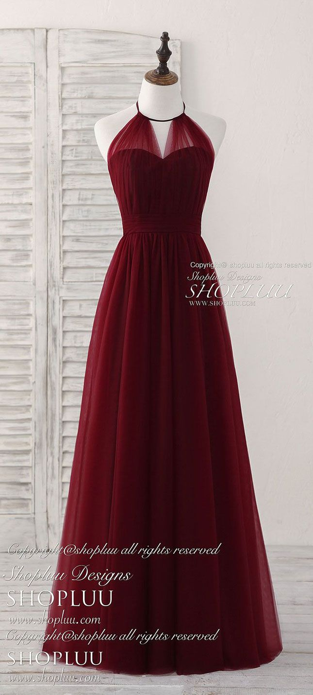 2018 long red chiffon evening ball cocktail prom bridesmaid dresses wedding gown