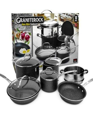 Granitestone Diamond 10 Pc Nonstick Cookware Set Cookware Set