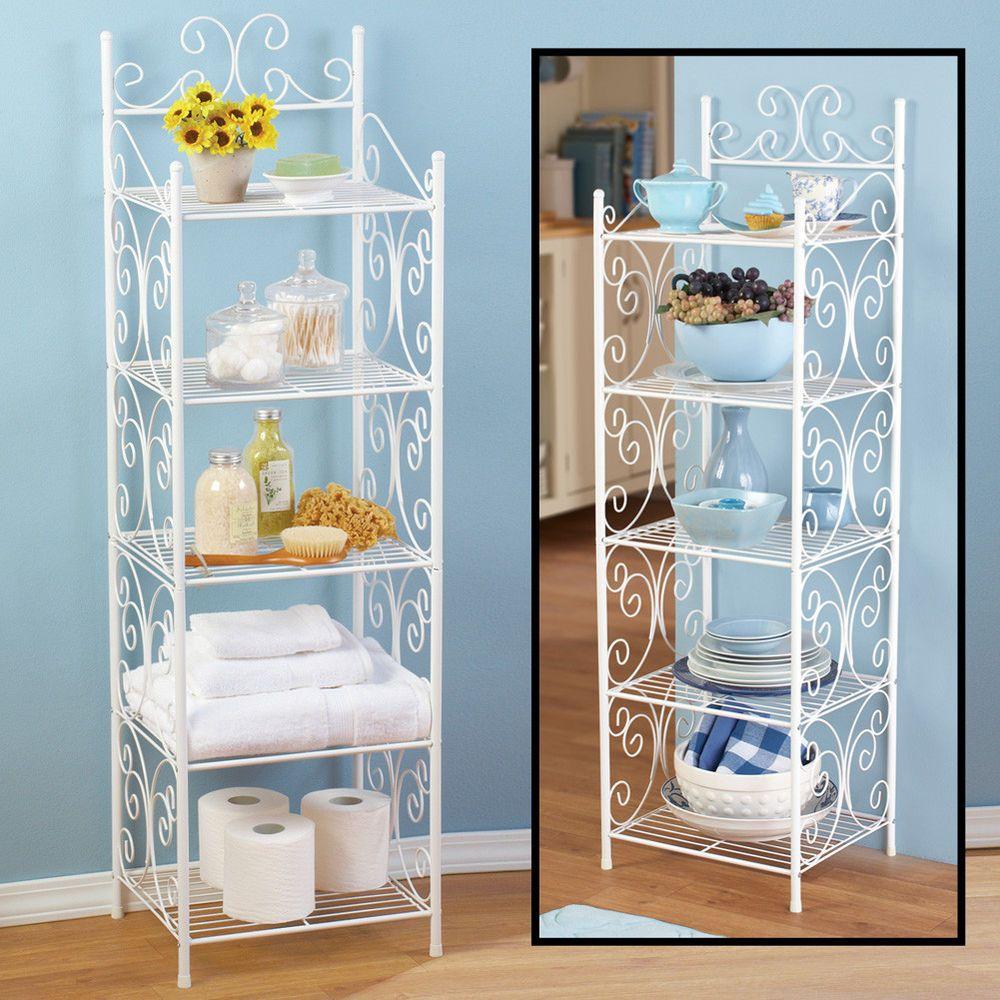 5 storage tier rack shelving shelf wire kitchen organizer steel 4 ...