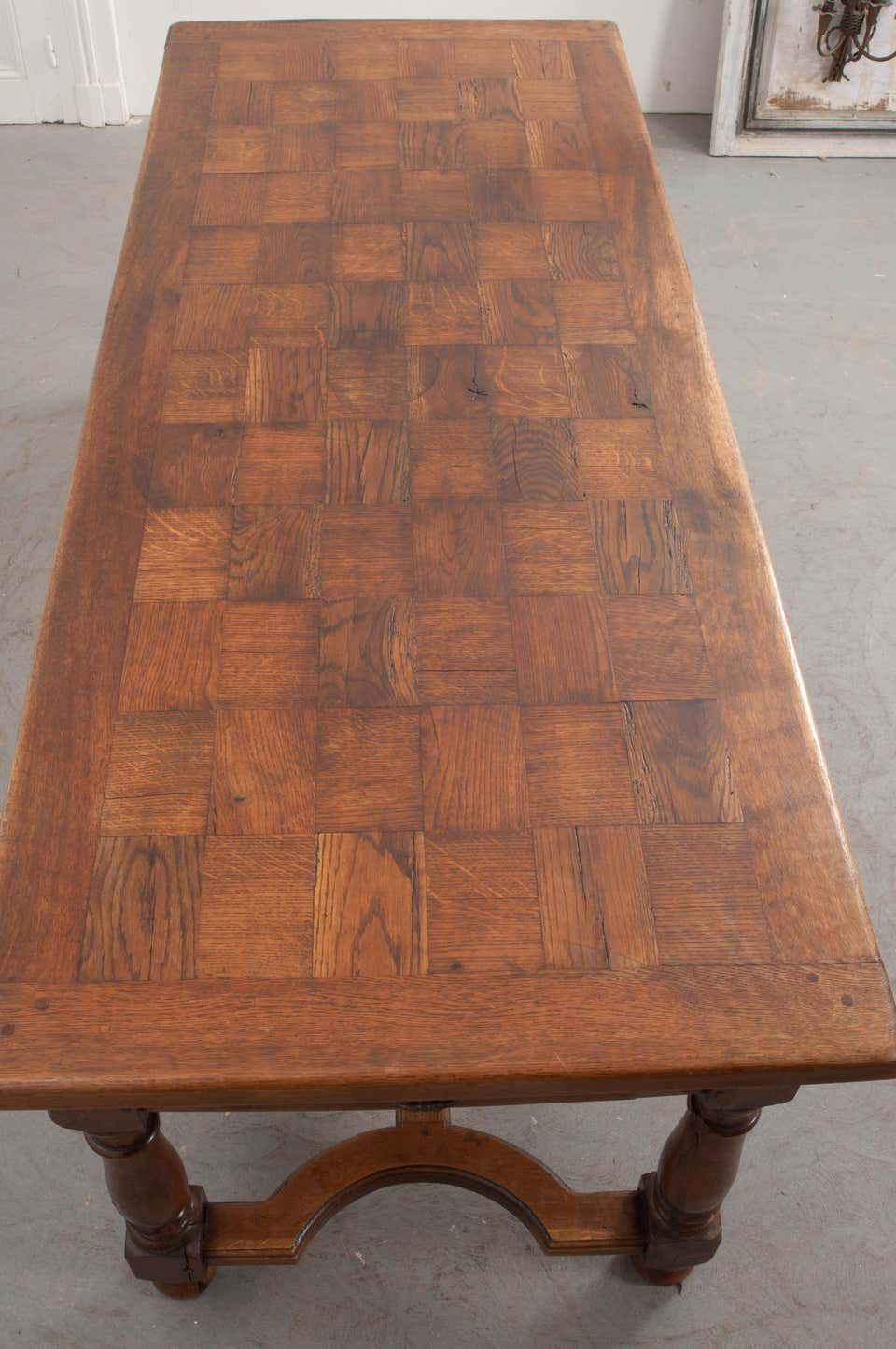 French Late 19th Century Oak Farmhouse Table Oak