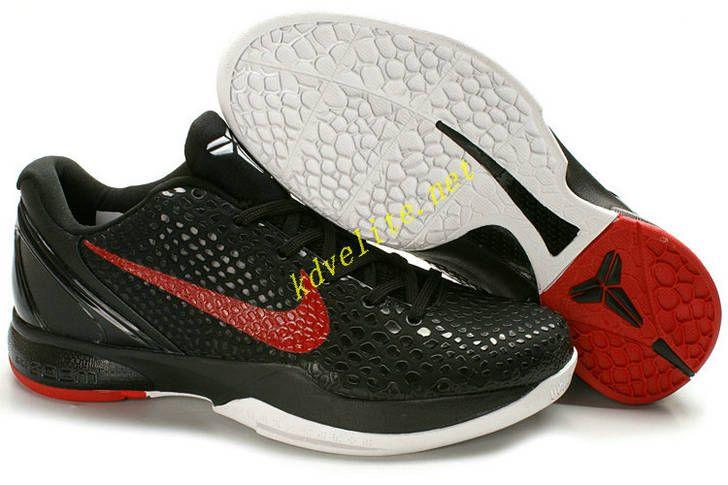 pretty nice 61fad 0fc54 Blackout Sport Red Nike Kobe 6 White 436311 001