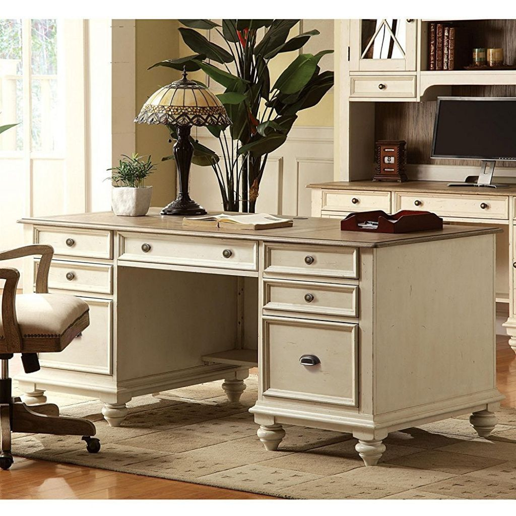 antique white office desk guest desk decorating ideas check more rh pinterest com White Office Furniture Collections White Cottage Style Office Furniture