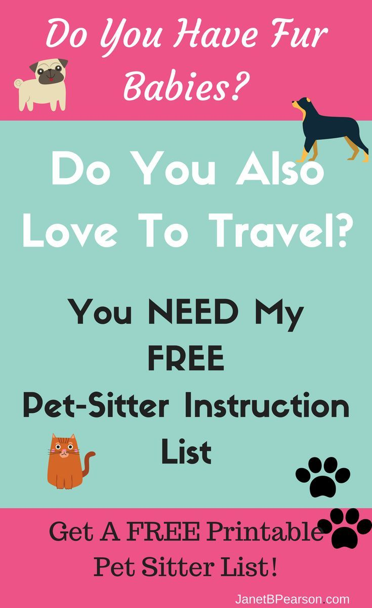 FREE PetSitter Instructions Printable Pet sitter