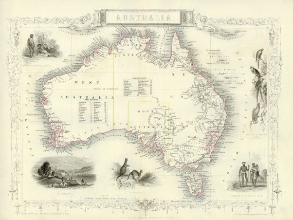 Map of australia old maps wall maps antique map print wall art large map of australia old maps wall maps antique map print wall art large canvas large map home decor map poster maps old maps captain cook gumiabroncs Gallery