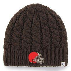 9d64f7d0ca629 Women s Cleveland Browns  47 Brand Brown Newbury Knit Beanie