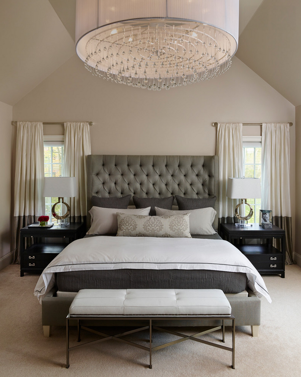Inspiration For A Transitional Master Bedroom With Beige