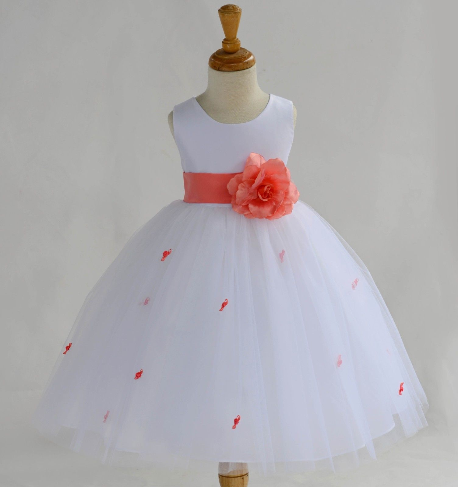 Flower Girl Dress Wedding Bridesmaid Birthday Pageant Formal Graduation Princess