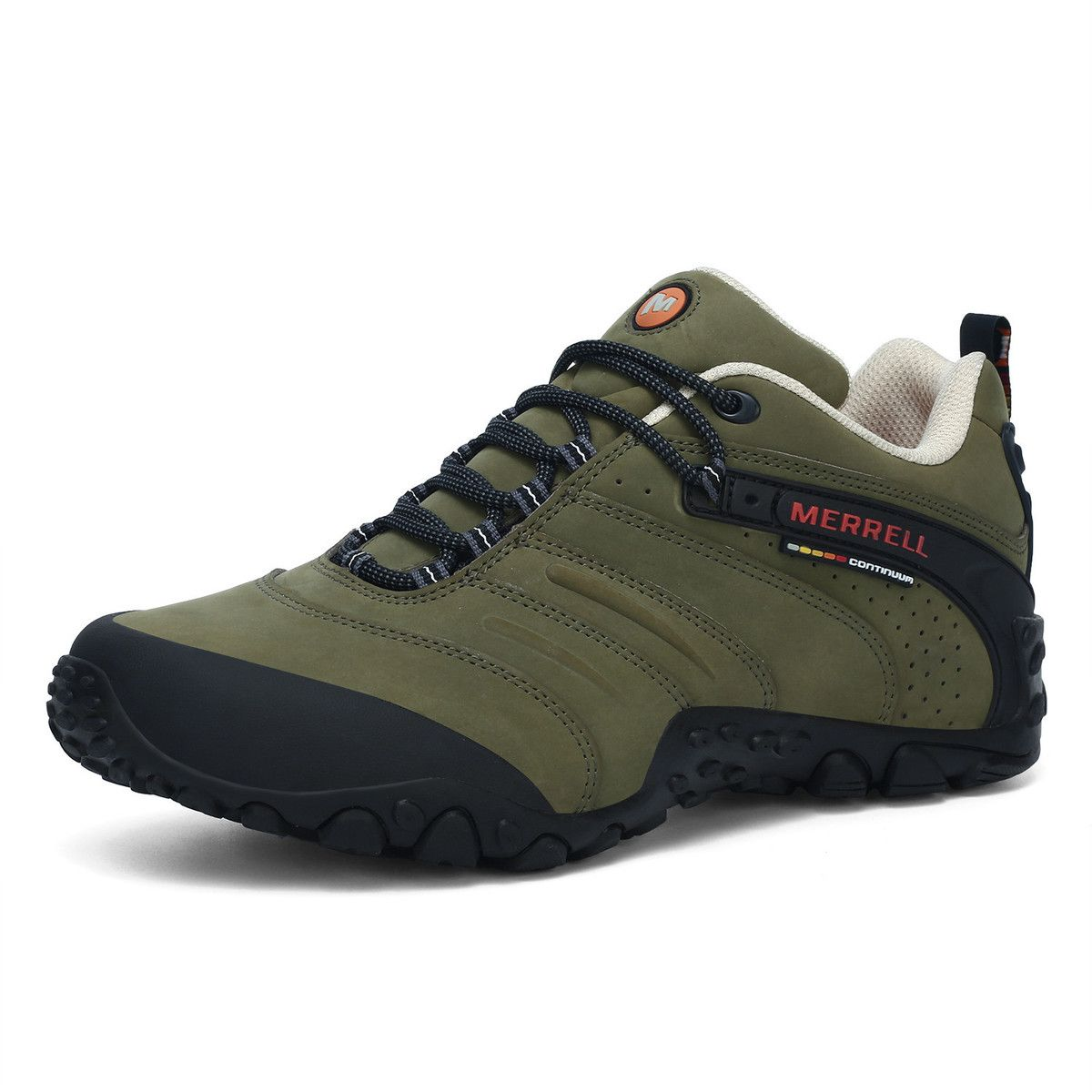 4131451f Merrell Professional Army Green Outdoor Men Sport Leather Hiking ...