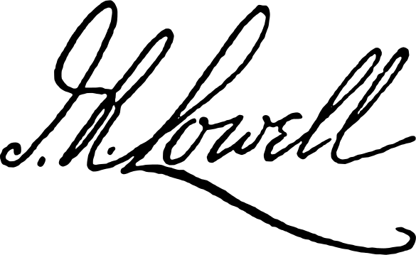 james russell lowell signature