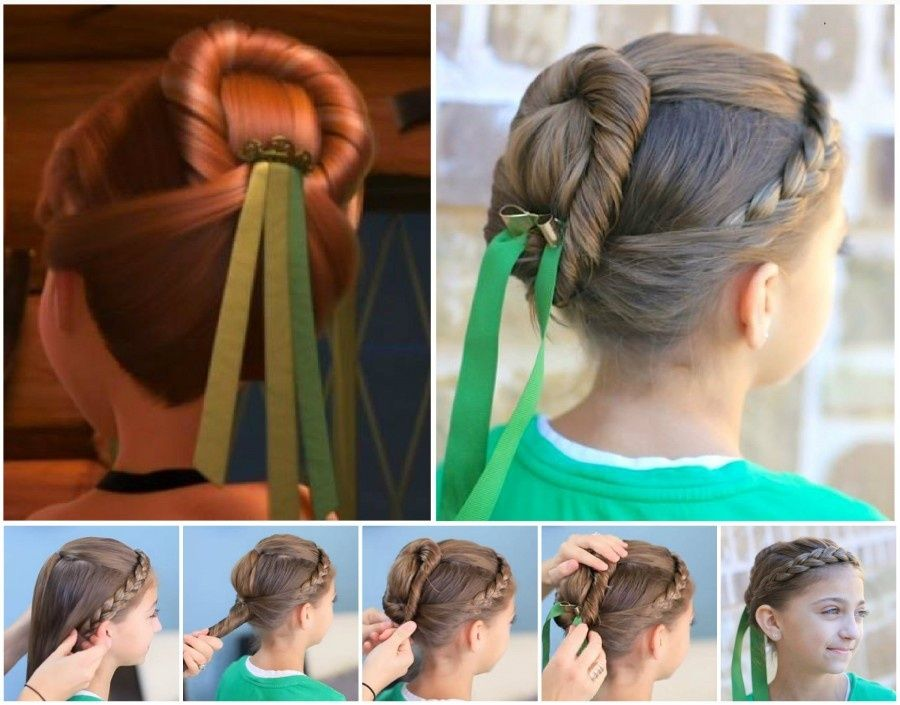 Kids Hairstyle For Girls Step By Step Princess Hairstyles For Kids Step Step Tutorials Ideas Images Anna Hair Frozen Hair Hair Styles