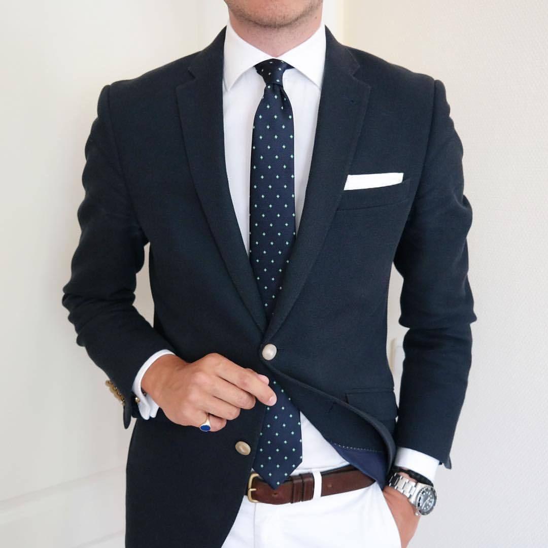 Men Dress Navy Stylish Slim Fit Dress Ceremony Sartorial Casual Fashion