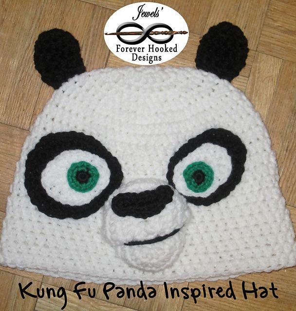 Kung Fu Panda Inspired Hat pattern by Jewels\' Forever Hooked Designs ...