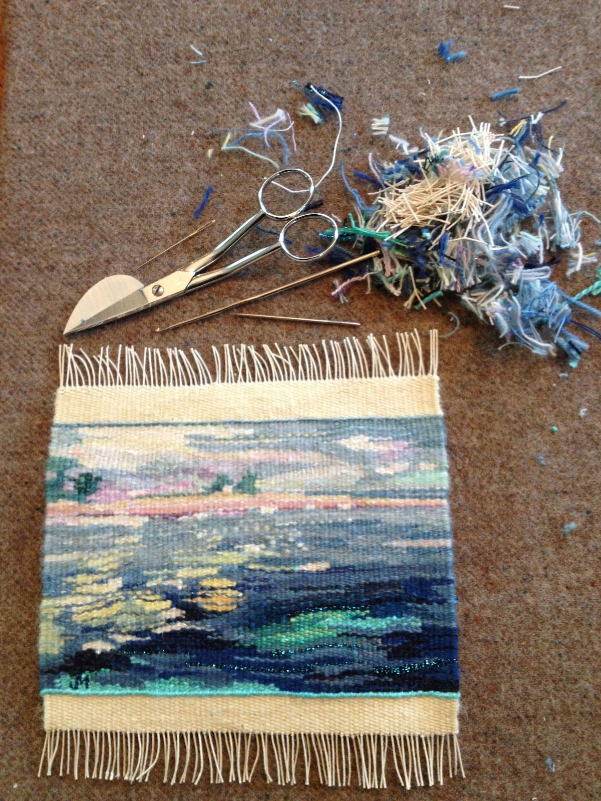 J Meetze Studio Common Threads Finishing A Small Tapestry