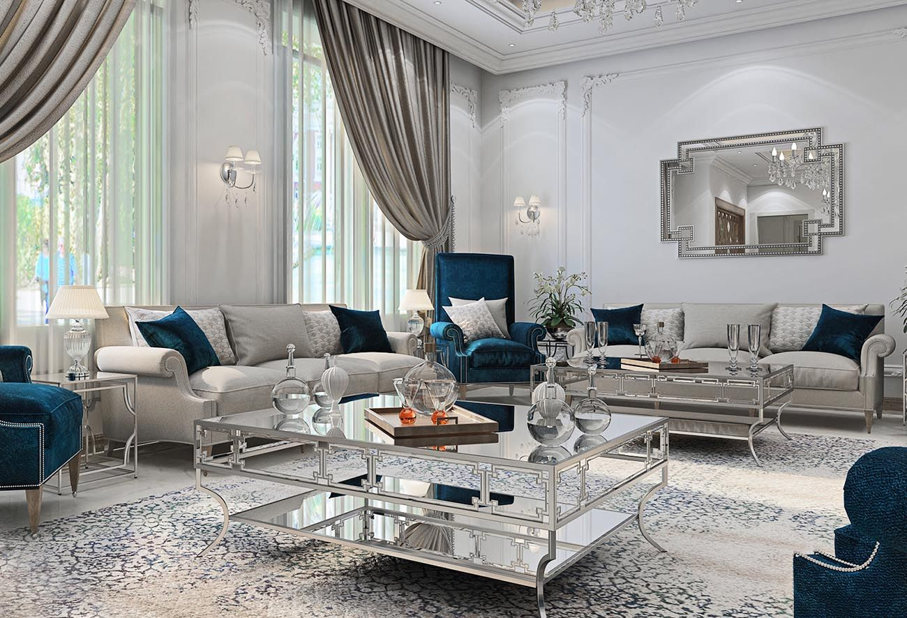 Pin On Glamour Old Hollywood Glamour Interior Design #white #and #teal #living #room