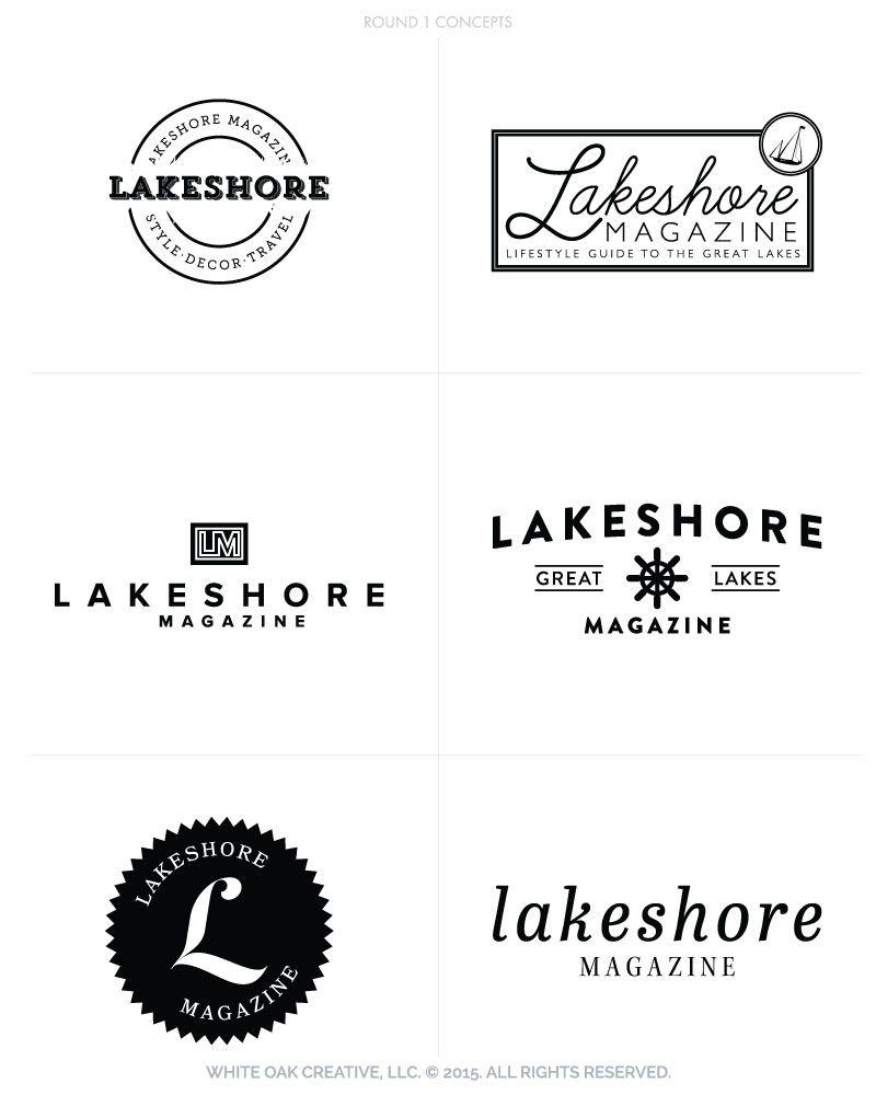 Lakeshore Magazine White Oak Creative Graphic Design Logo Custom Blog Design White Oak Creative