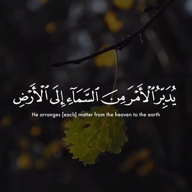 As Sajdah 6 5 Video Quran Quotes Love Quran Recitation Quran Quotes