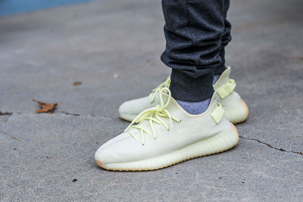 on sale 9423d 21645 Adidas Yeezy Boost 350 V2 Butter On Feet Sneaker Review ...