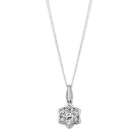 Simply Silver Sterling Silver Flower Necklace Debenhams