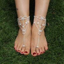 여성 섹시한 라인 석 맨발로 샌들, 발 팔찌 신부 액세서리 보석 발 팔찌 비치 발 보석(China (Mainland))