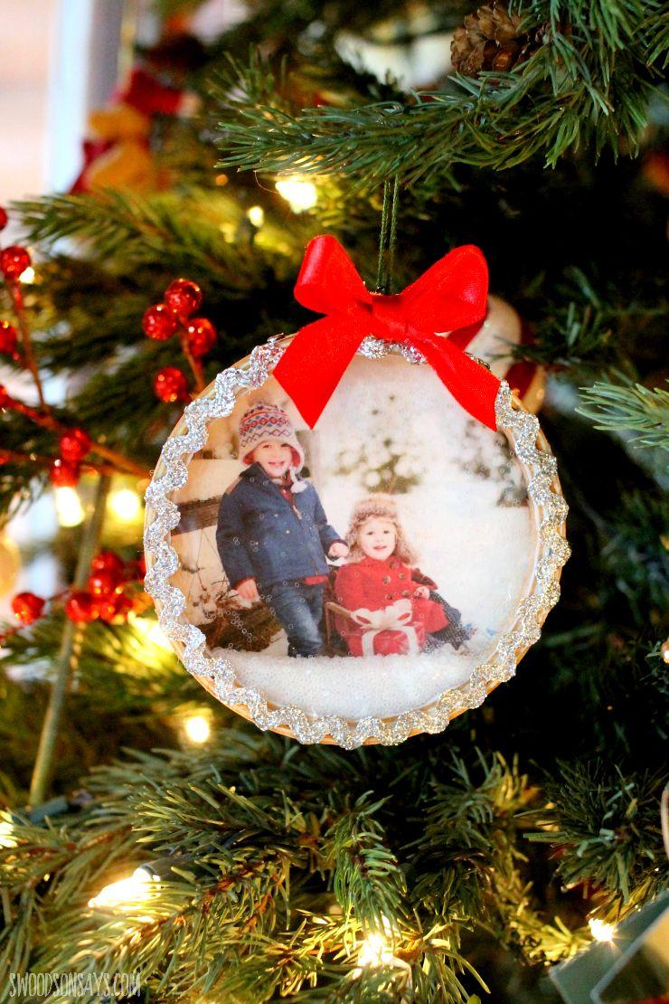 DIY Snow Globe Ornament Christmas/Winter cards Diy