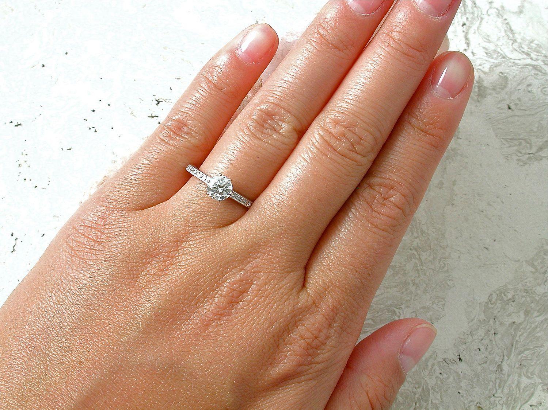 Tiffany Vintage Diamond Engagement Ring. .65 Carat Center