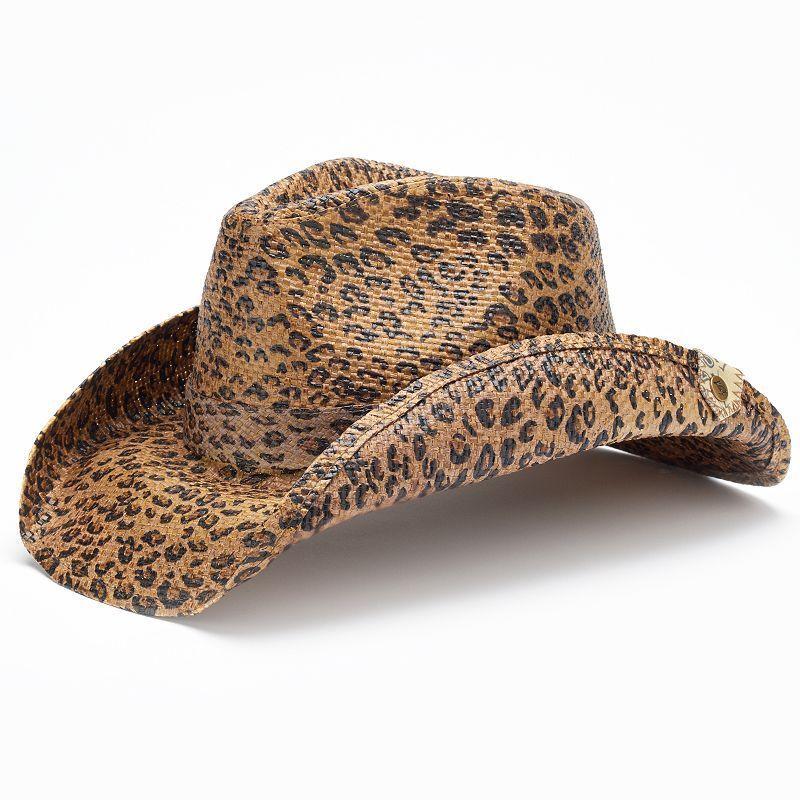 f8ef0c3cb1 Peter Grimm Rowdy Cheetah Cowboy Hat