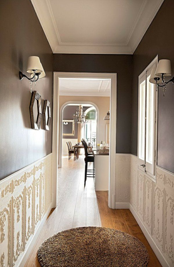 wandgestaltung im flur ideen die sie in ihr haus einf hren k nnen einrichtungsideen flure. Black Bedroom Furniture Sets. Home Design Ideas