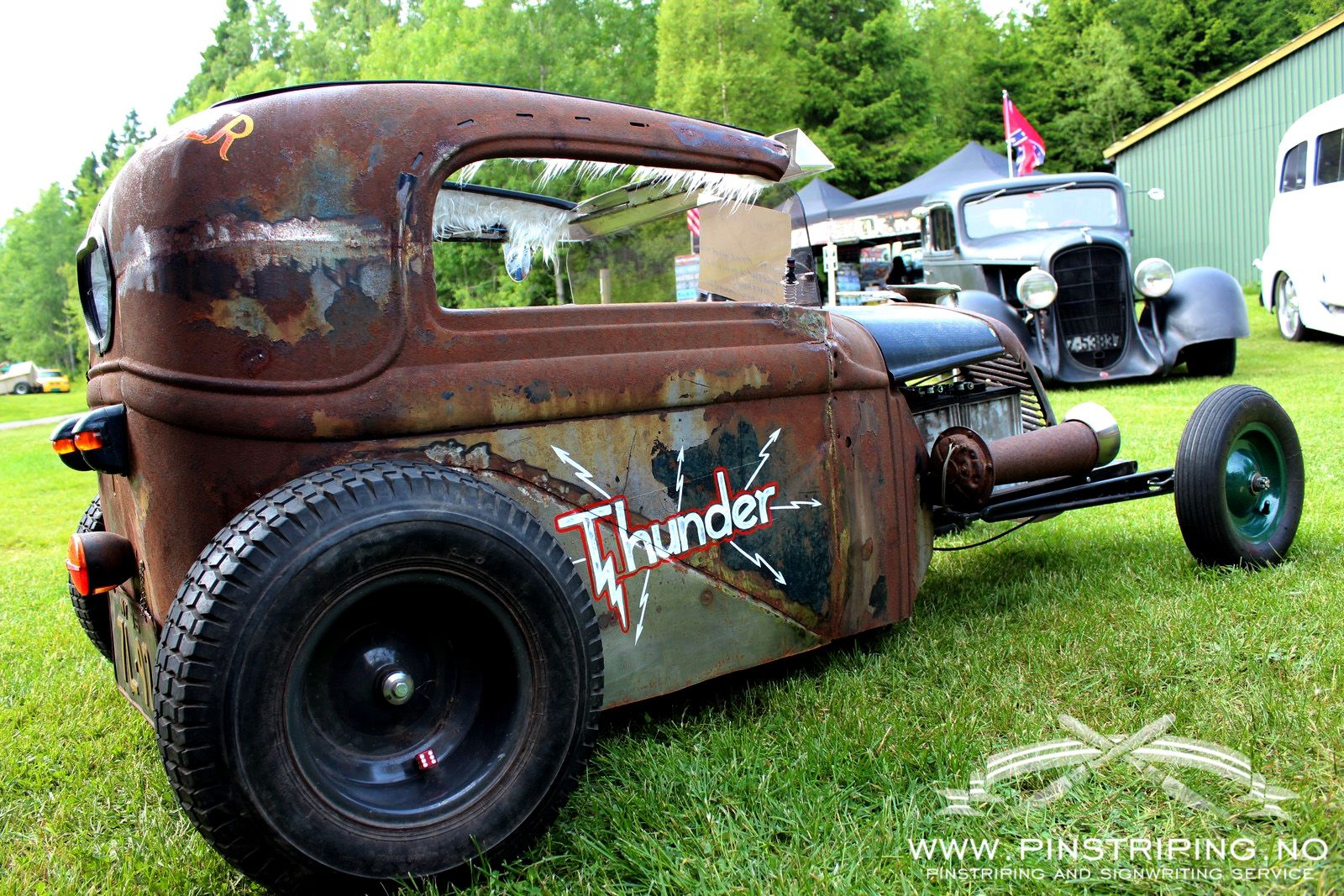 Lettering On A Small Electric Rat Rod Www Pinstriping No