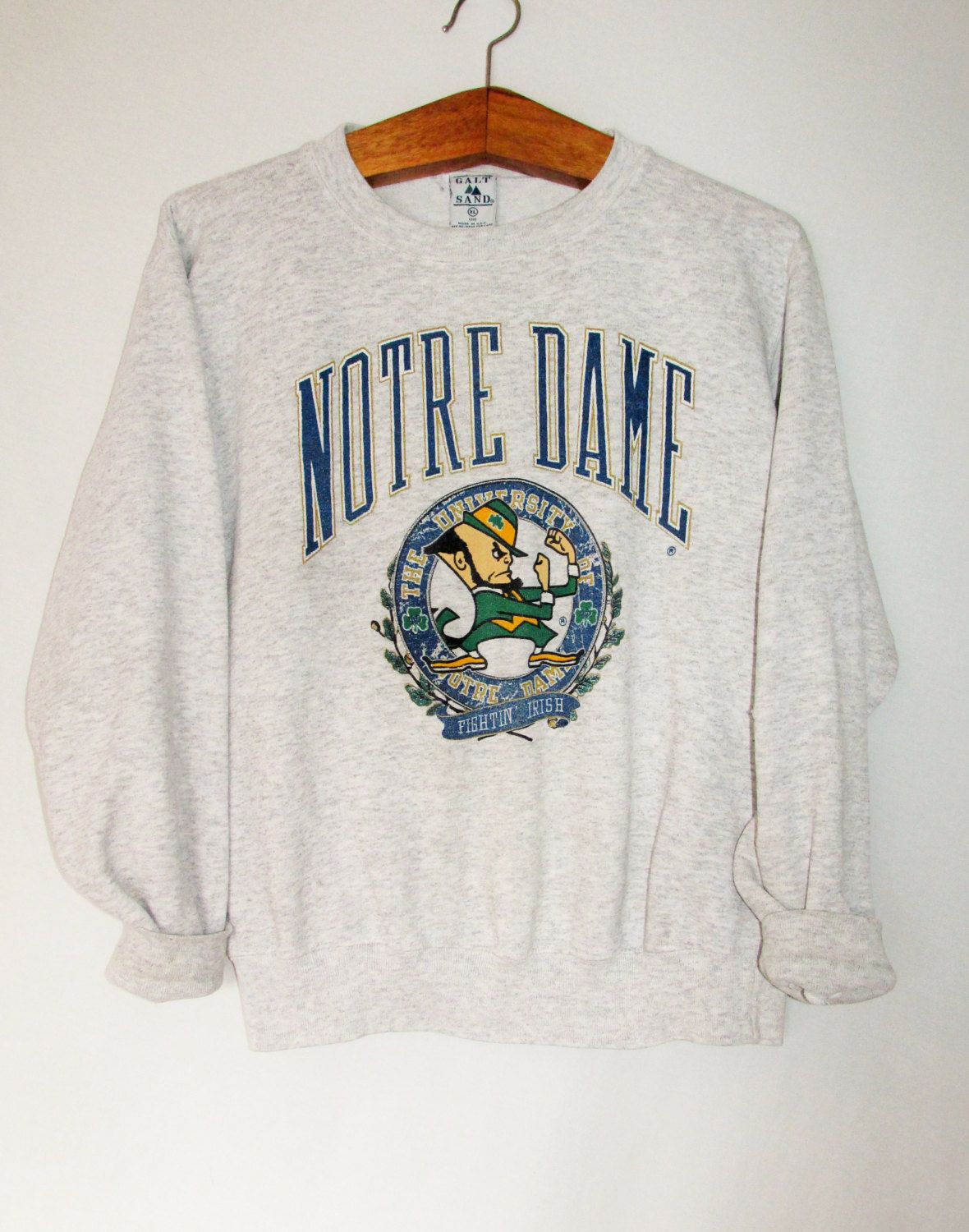 4bd4cf635 Vintage Notre Dame Fighting Irish Sweatshirt by FreshtoDeathVintage on Etsy