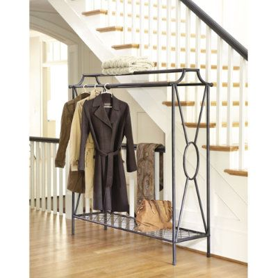 Niles Double Coat Rack - Ballard Designs.  I am going to create my closet using these...like a boutique feel.