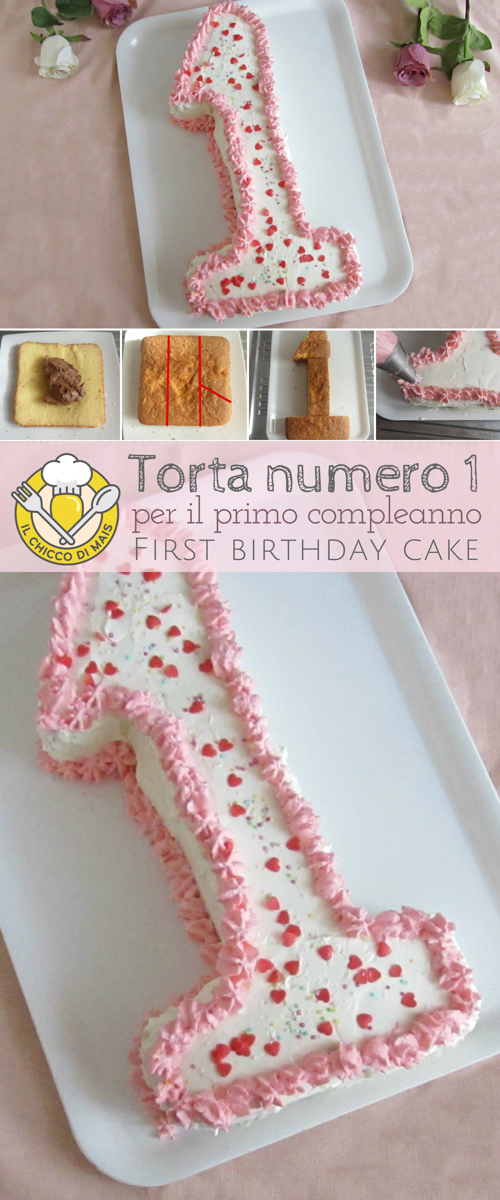 Regalo Primo Compleanno Nipotino torta numero uno: una torta per il primo compleanno di una