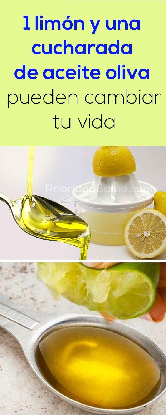 Haz Esto Con 1 Limon Con 1 Cucharada De Aceite De Oliva Y Te