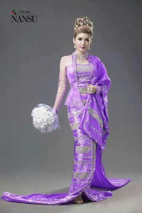 myanmar wedding dress | Myanmar traditional dress | Pinterest ...