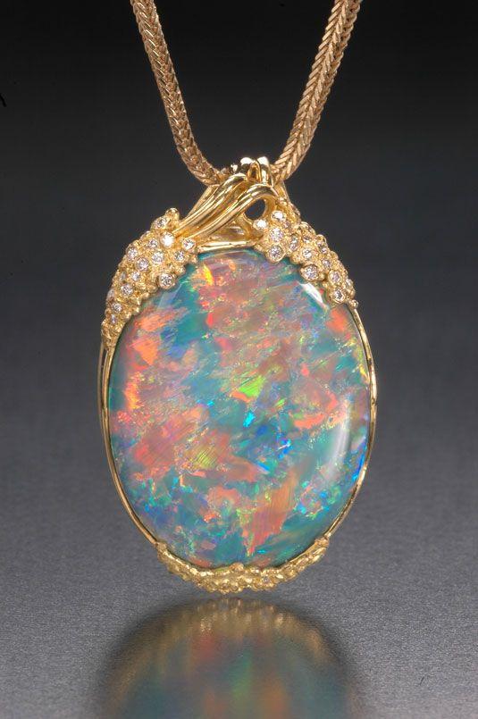 Énorme de haute qualité Blue Fire Opal Inlay Argent Sterling 925 Pendentif Pour Collier