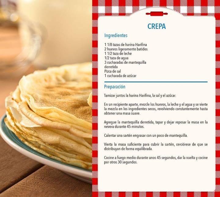 Crepas recipes pinterest food crepes and waffles - Ingredientes para crepes ...