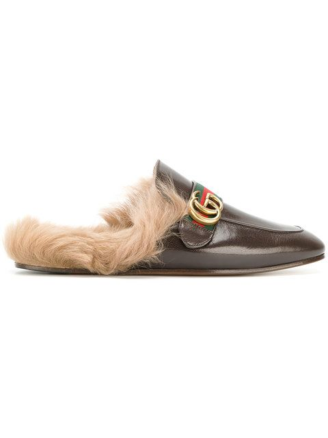 fe25d86c43e GUCCI Princetown Appliqué Slippers.  gucci  shoes  flats Leather Slippers  For Men