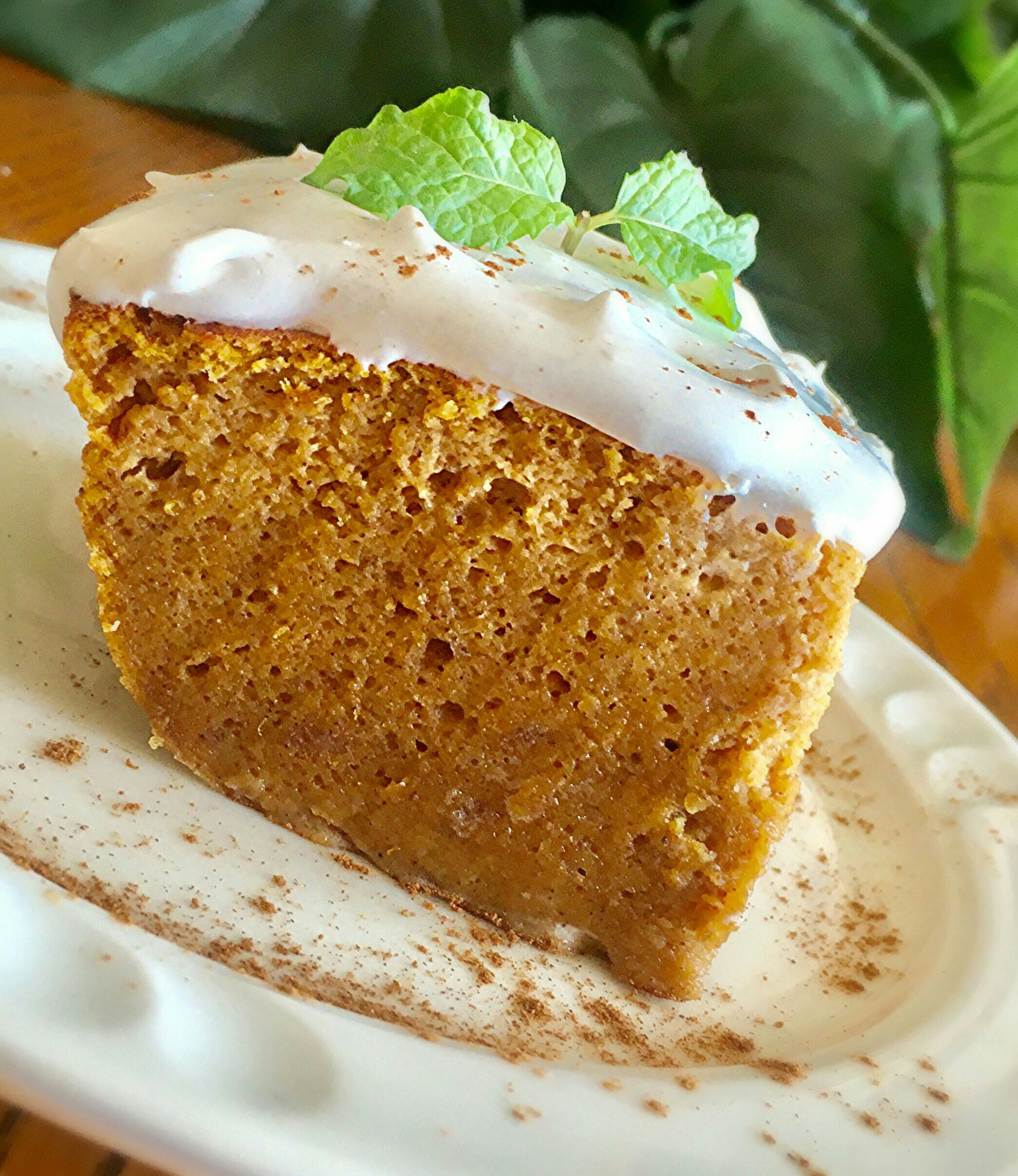 Pumpkin Magic Cake with Maple Cinnamon Whipped Cream #MyAllrecipes ...